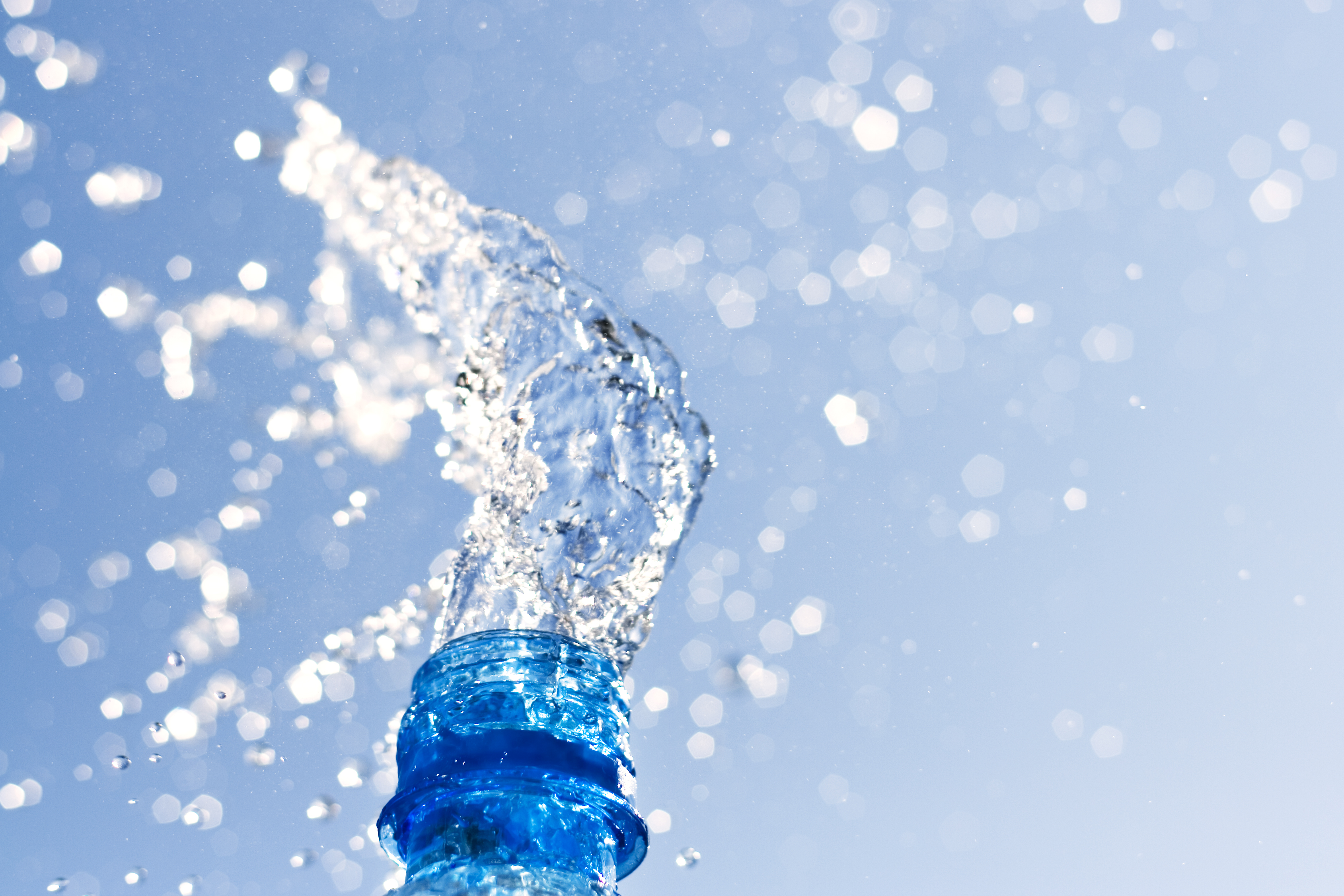 Splash over bottle